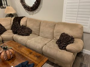 Microfiber Sectional Couch with sleeper sofa for Sale in Rancho Cucamonga, CA