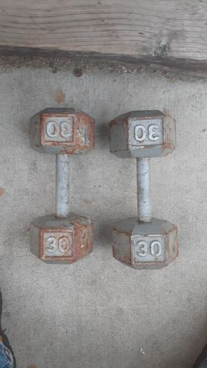 Two 30 Pound Steel Dumbbells for Sale in Chicago, IL