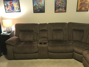 Brown sectional couch (6 pieces) for Sale in Dallas, TX
