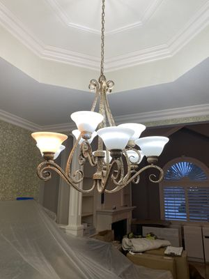 Beautiful large Rod Iron Chandelier. Great shape for Sale in Covina, CA