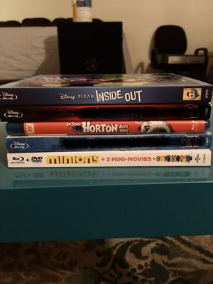 Kids Blu-ray movies all 3 for $12 for Sale in Menifee, CA