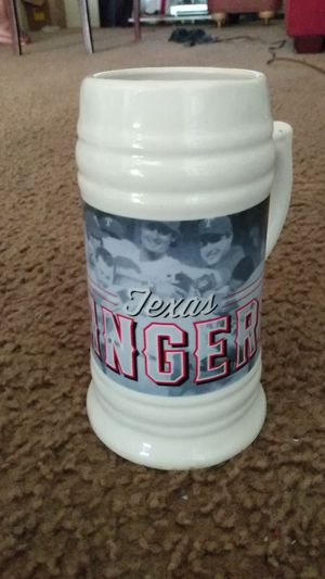 """Texas Rangers drinking mug 7"""" tall Asking $5 for Sale in Dallas, TX"""
