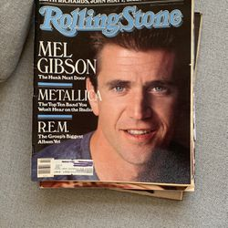 Mel Gibson/Metallica - Rolling Stone Issue #543 - 1989 for Sale in Herriman,  UT