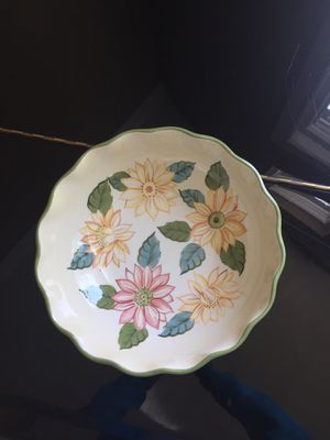 Longaberger bowl and plate for Sale in Livermore, CA