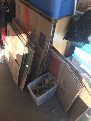 Moving boxes, wardrobe boxes and packing tape for Sale in Billerica, MA