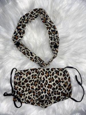 Leopard/Cheetah Print Face Mask & Headband for Sale in Altamonte Springs, FL