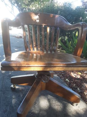 Antique wooden office chair for Sale in San Jose, CA