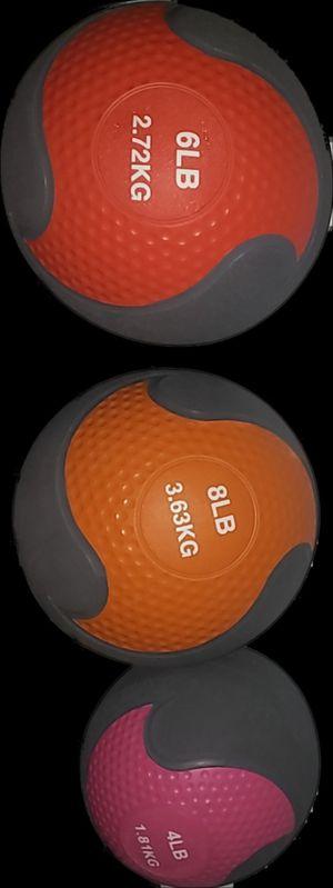 Rubber medicine ball set 4lb, 6lbs, & 8lbs obo for Sale in Baldwin Park, CA