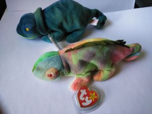 Rare error Iggy and rainbow beanie babies for Sale in Jackson, NJ