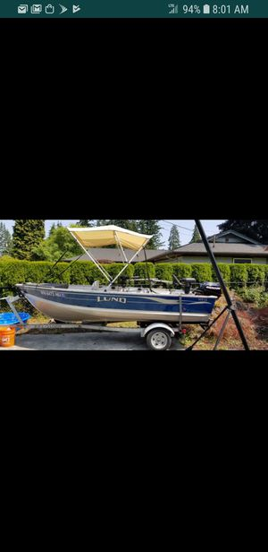 Lund SSV-14 fishing boat and trailer for Sale in Everett, WA