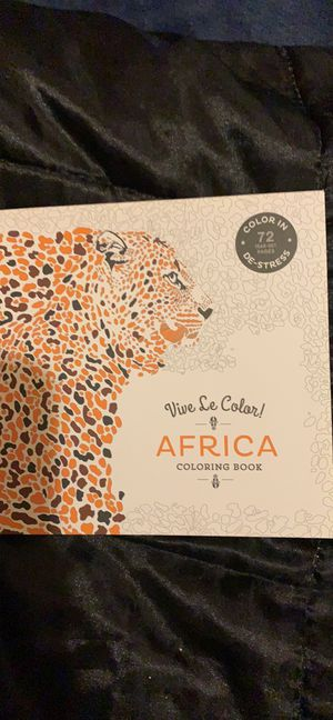 Viva le color Africa coloring book for Sale in Avis, PA