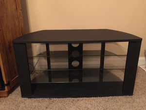 TV Stand with glass shelves 40 x 22 x 21 for Sale in Murfreesboro, TN