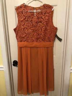 NY&Company orange knee length dress brand new for Sale in Goodyear, AZ