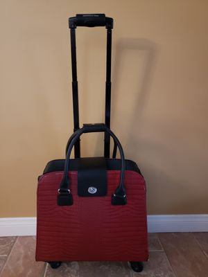 Harlequin Red Crocodile Rolling Trolley Bag for Sale in Buena Park, CA