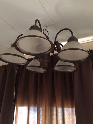 Brown chandelier in good condition for Sale in Hemet, CA