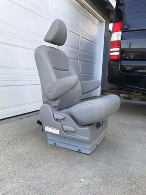 Gray leather reclining captain seat for shuttle bus, sprinter van conversion, RV motorhome etc for Sale in Hawthorne, CA