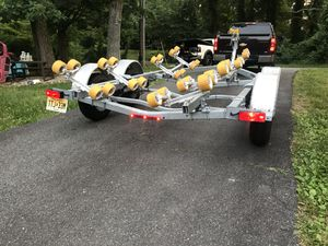 Boat trailer 2018 Sea Lion roller trailer with disc brakes for Sale in Springfield, VA