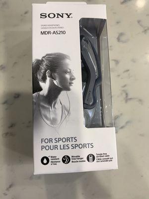 Sony MDR-AS210/B Sport In-ear Headphones, Black for Sale in Long Beach, CA