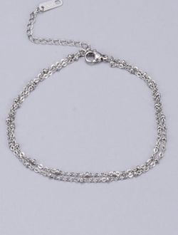 18k White Gold Plated:Titanium Minimalist Strand Bracelet for Sale in Mount Clare,  WV