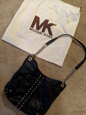 MICHAEL KORS black studded large hobo style purse - needs inside repaired and plating on studs - bag included for Sale in Anaheim, CA