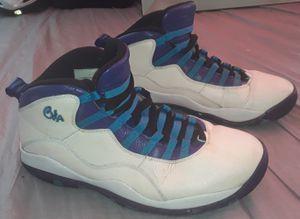 *AIR JORDAN* Retro 10 X Charlotte Hornet Shoes ( Size: 11, Grape / Concord White, 310805-107) for Sale in Everett, WA
