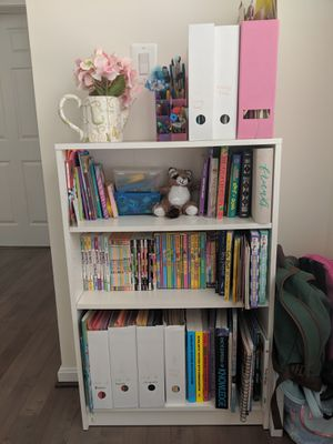 White bookcase with adjustable shelves for Sale in Olney, MD