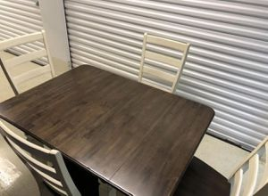 Breakfast table - brown & white for Sale in Atlanta, GA
