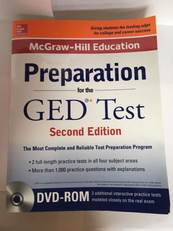 GED book with dvd