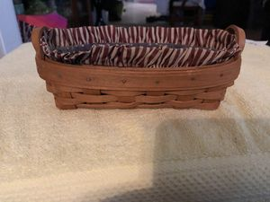 LONGABERGER BASKET WITH LINER for Sale in Sherrills Ford, NC