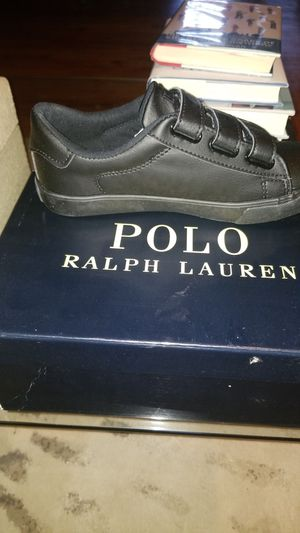 Polô Ralph Laurên Unisex (Black) Kids' Easton Sneaker Little Kid Size 2 for Sale in Suitland, MD