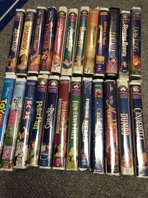 Set of 24 Disney VHS movies for Sale in Garden City, MI
