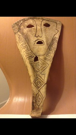 Strange Bone Tribal Mask- Hand Drawn Details- made by a Tribe in Timor, Indonesia- Unidentifiable Symbols Throughout! for Sale in Herndon, VA