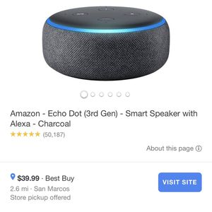 Echo Dot Alexa for Sale in Escondido, CA