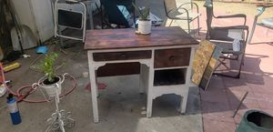 Dimensions: 30 inches tall, 19 inches deep, and 37 inches wide. Reclaimed wood, adult antique vintage desk. Minimal for Sale in Campbell, CA