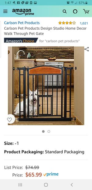 Pet Gate walk-thru brand new in box for Sale in Miami, FL