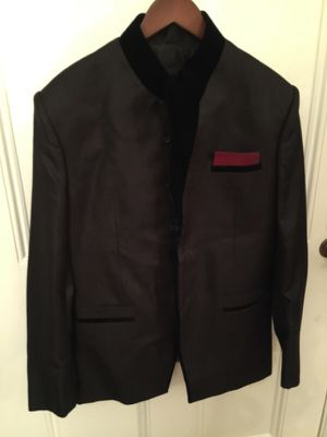 Men's fancy jacket trimmed in velvet for Sale in Sudbury, MA