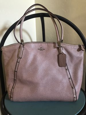 Coach Authentic pink shimmery purse for Sale in Tempe, AZ