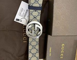 Gucci Belt Supreme Blue Size 105cm fits 36/38 waist w/tags,NEW In Box & Dust Bag for Sale in Pittsburgh, PA