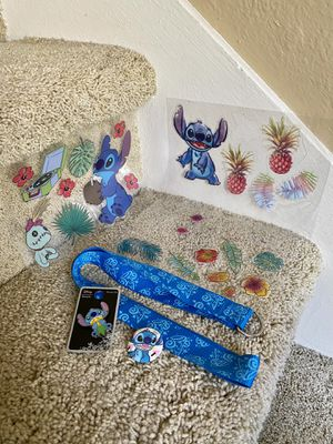 Disney Loungefly STITCH Pin, Vinyl Stickers, Button for Sale in Fullerton, CA