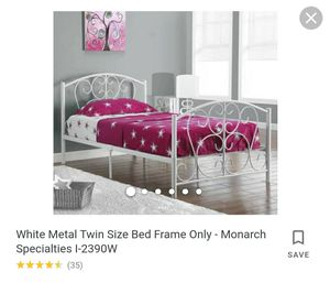 Twin Metal Frame Bed for Sale in Killeen, TX