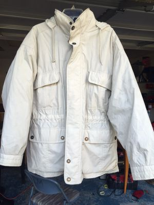 Towne off-white jacket large by London Fog Used for Sale in Mesquite, TX