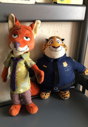 Nick Wilde And Officer Clawhauser Plushies for Sale in Fontana, CA