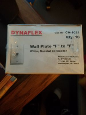 """Dynaflex wall plate """"F"""" to """"F"""" Coaxial Connector for Sale in Austin, TX"""