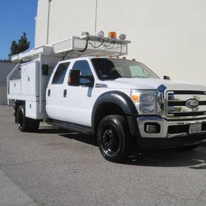Ford F550 Crew Cab Contractors Flatbed Utility Service Body F450 for Sale in Long Beach, CA