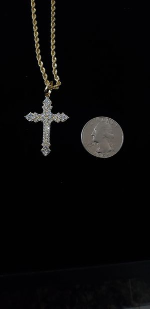10K Gold CZ Cross Pendant/Charm/Medallion for Sale in San Diego, CA