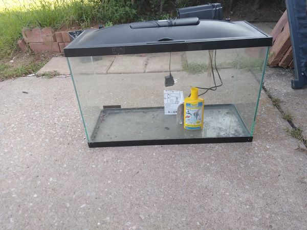 30 gal fish tank with filter, led light and water purifier