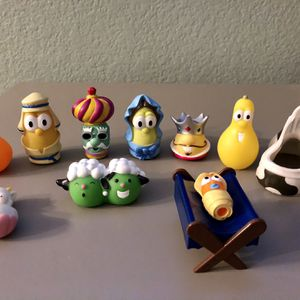 VeggieTales 2004 Toy Figures (10 Items) For $15 for Sale in Corona, CA
