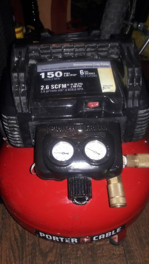 Porter cable air compressor for Sale in Ontario, CA