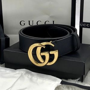 GG Marmont Black Leather Belt with Shiny Buckle Size 29-32 for Sale in Lewisville, TX