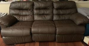 Set of brown leather recliners- sofa and loveseat for Sale in Chula Vista, CA